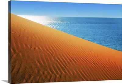 Dune Landscape And Ocean Near Cape Peron, Australia, Gascoyne, Shark Bay