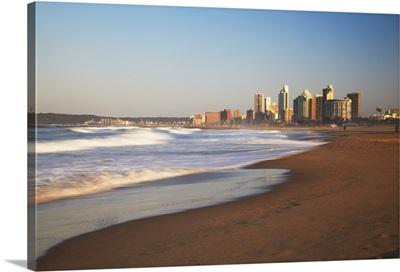 Durban skyline and beachfront, KwaZulu-Natal, South Africa