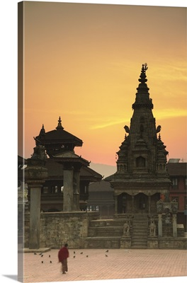 Durbar Square at dawn, Bhaktapur, Kathmandu Valley, Nepal