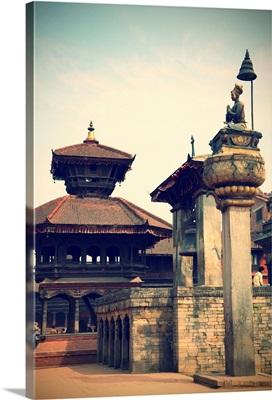 Durbar Square, Bhaktapur (UNESCO World Heritage Site), Kathmandu Valley, Nepal