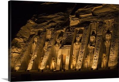 Egypt, Abu Simbel, Temple of Hathor - dedicated to Nefertari