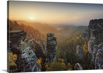 Elbe Sandstone Mountains, Saxon Switzerland National Park, Saxony, Germany