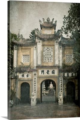Entrance gate to the One Pillar Pagoda, Hanoi, Vietnam