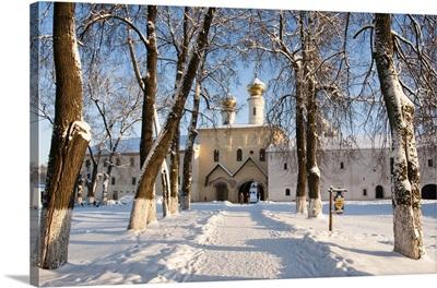 Entrance to the Bogorodichno-Uspenskij Monastery, Tikhvin, Leningrad region, Russia