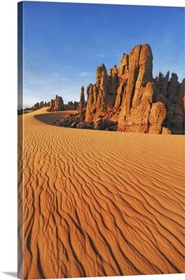 Erosion Landscape In Tassili Du Hoggar, Algeria, Tassili Hoggar, Tahaggart, Sahara