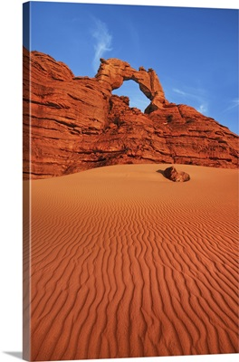 Erosion Landscape In Tassili Du Hoggar, Algeria, Tassili Hoggar, Tin Akaschaker, Sahara