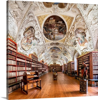 Europe, Czech Republic, Prague, Strahov Monastery, Strahov Library, Theological Hall
