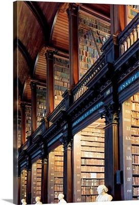 Europe, Dublin, Ireland, Trinity College library interior
