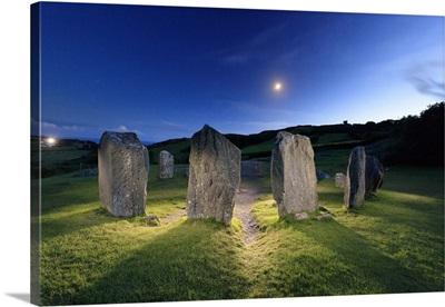 Europe, Ireland, Cork, Drombeg stone circle