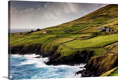 Europe, Ireland, Kerry county, scenic road along Dingle Peninsula near Slea Head