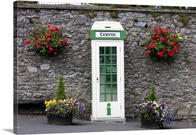 Europe, Ireland, Wicklow, traditional telephone cabin