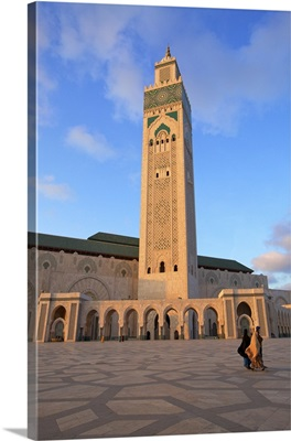 Exterior of Hassan ll Mosque, Casablanca, Morocco, North Africa