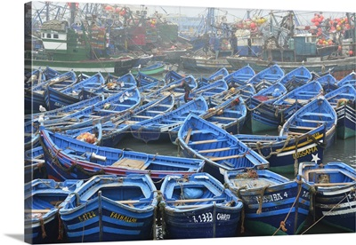 Fishing boats in the harbour of Essaouira, Morocco