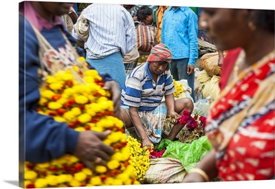 Flower market, Kolkata (Calcutta), India