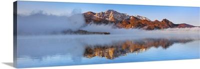 Fog Impression At Kochelsee With Herzogstand, Germany, Bavaria, Bad Tolz-Wolfratshausen