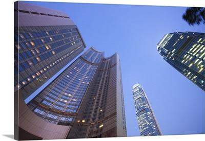 Four Seasons Hotel and IFC 1 and 2, Central, Hong Kong, China