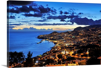 Funchal at sunset, Madeira, Portugal