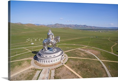 Genghis Khan Statue Complex From Above. Erdene, Tov Province, Mongolia
