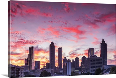 Georgia, Atlanta, city skyline from Interstate 20