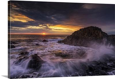 Giant's Causeway At Sunset, Co, Antrim, Northern Ireland
