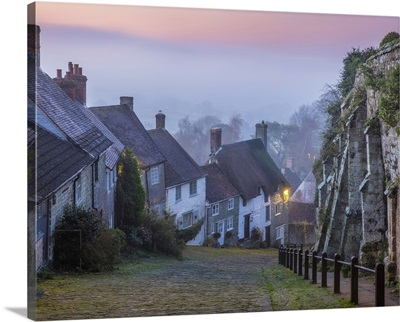 Gold Hill At Dawn, Shaftesbury, Dorset, England, UK