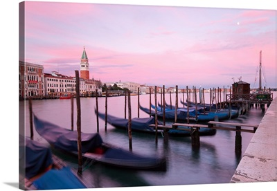 Grand Canal of Venice at sunset, Veneto, Venice district, Italy