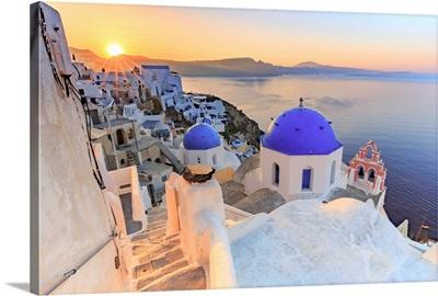 Greece, Cyclades, Firostefani and Santorini Caldera
