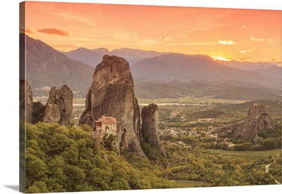 Greece, Thessaly, Meteora, Holy Monastery of Rousanou