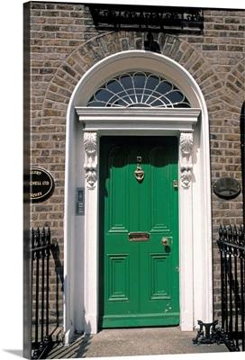 Green door, Merrion Square, Dublin, Ireland