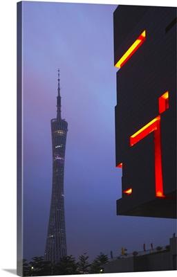 Guangzhou TV and Sightseeing Tower, Tianhe, Guangzhou, China
