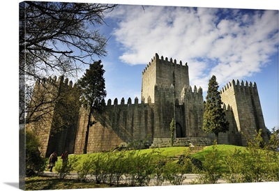 Guimaraes castle, where Portugal was founded in the 12th century