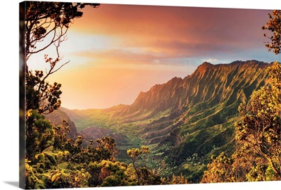 Hawaii, Kauai, Kokee State Park, Kalalau Valley