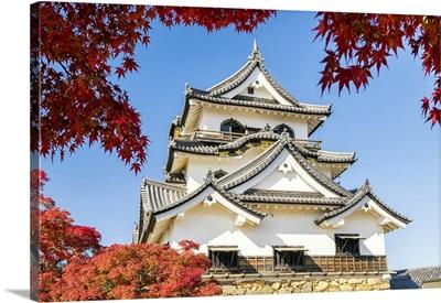 Hikone Castle In Autumn, Shiga Prefecture, Japan