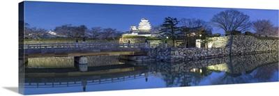 Himeji Castle at dusk, Himeji, Kansai, Honshu, Japan