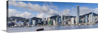 Hong Kong Island skyline and Star Ferry, Hong Kong