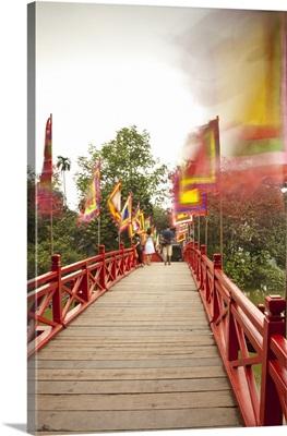 Huc Bridge, Hoan Kiem Lake, Hanoi, Vietnam