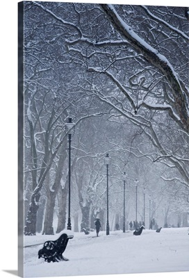 Hyde Park Snow Scene, London, England, UK