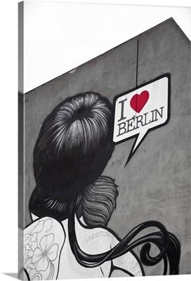 'I Love Berlin' mural on building, Berlin, Germany