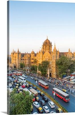 India, Mumbai, Maharashtra, Chhatrapati Shivaji Maharaj Terminus Railway Station