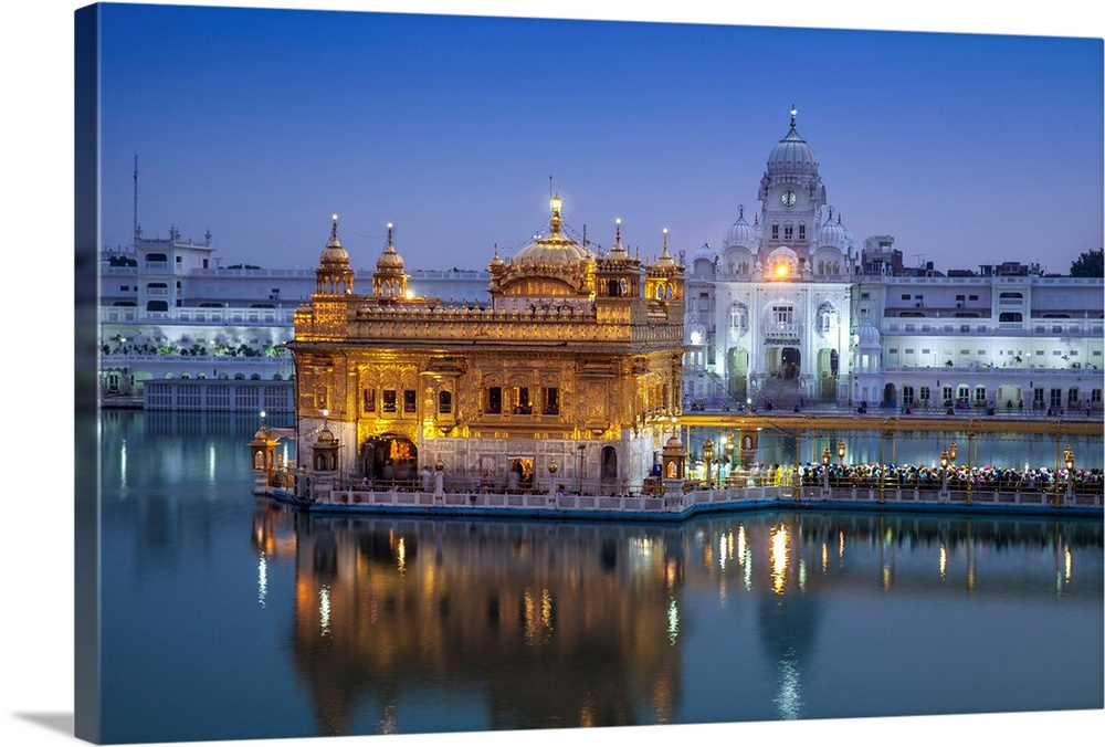 INDIA GOLDEN TEMPLE Canvas Framed Print ~ More Size