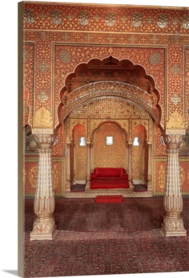 India, Rajasthan, Bikaner, Junagahr Fort, Anup Mahal Hall