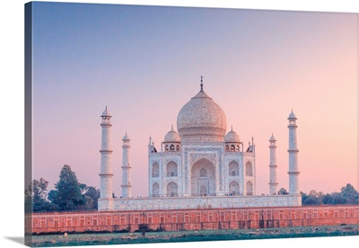 India, Taj Mahal At Sunset