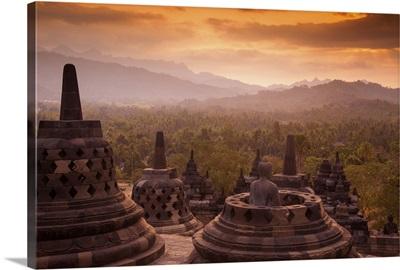 Indonesia, Java, Magelang,  Borobudur Temple