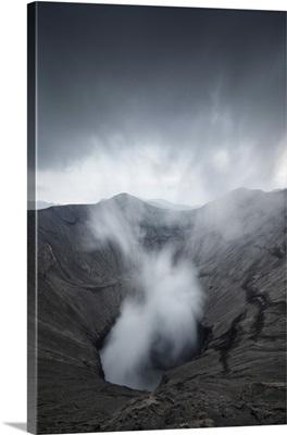 Indonesia, Java, Smoking volcano, Bromo Tengger Semeru National Park, Isle of Java