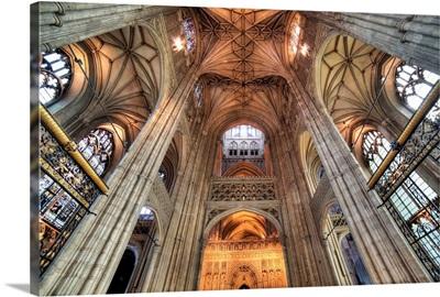 Interior of Canterbury Cathedral, Canterbury, Kent, England, UK
