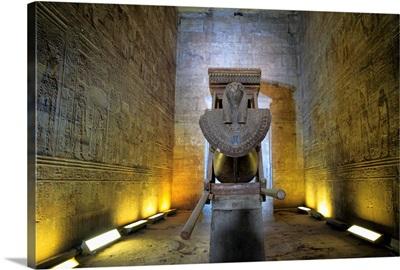 Interior of the sanctuary, Horus temple (3rd century BC), Edfu, Egypt