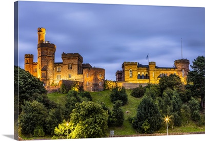 Inverness Castle In Early Evening, Scotland, United Kingdom