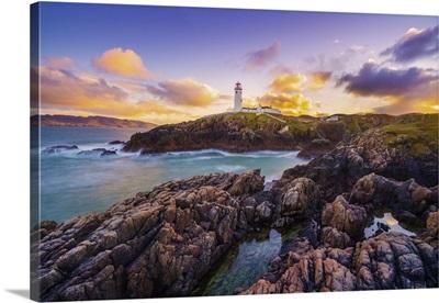 Ireland, Co. Donegal, Fanad, Fanad Lighthouse At Dusk