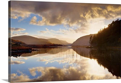Ireland, Co.Donegal, Glenveagh National Park, Reflection In Lough Veagh