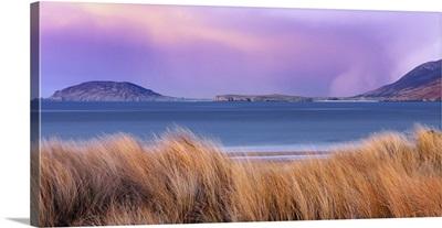 Ireland, County Donegal, Fanad, Ballymastoker bay at dusk